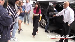 Camila Cabello pranks fans as she exits from the Z100 Elvis Duran and the Morning Show in New York