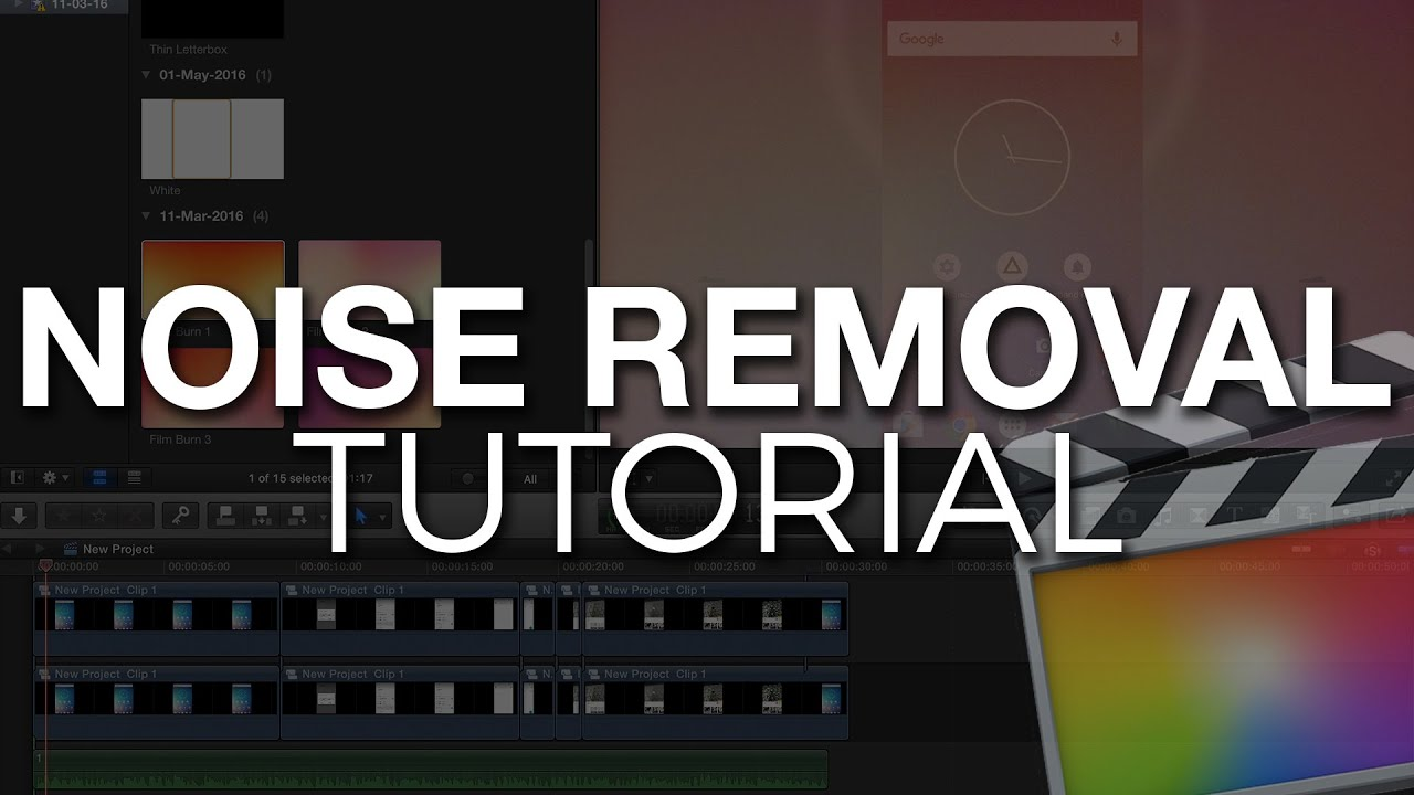 How To Remove Background Noise in Final Cut Pro X - YouTube
