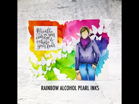 ScrappyScrappy - Rainbow alcohol pearl inks
