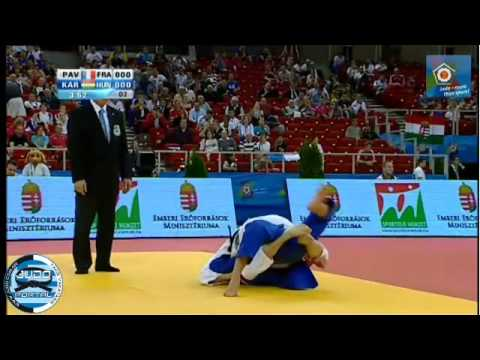 European Judo Championship Budapest 2013 -57kg PAVIA Automne FRA) - KARAKAS Hedvig (HUN)
