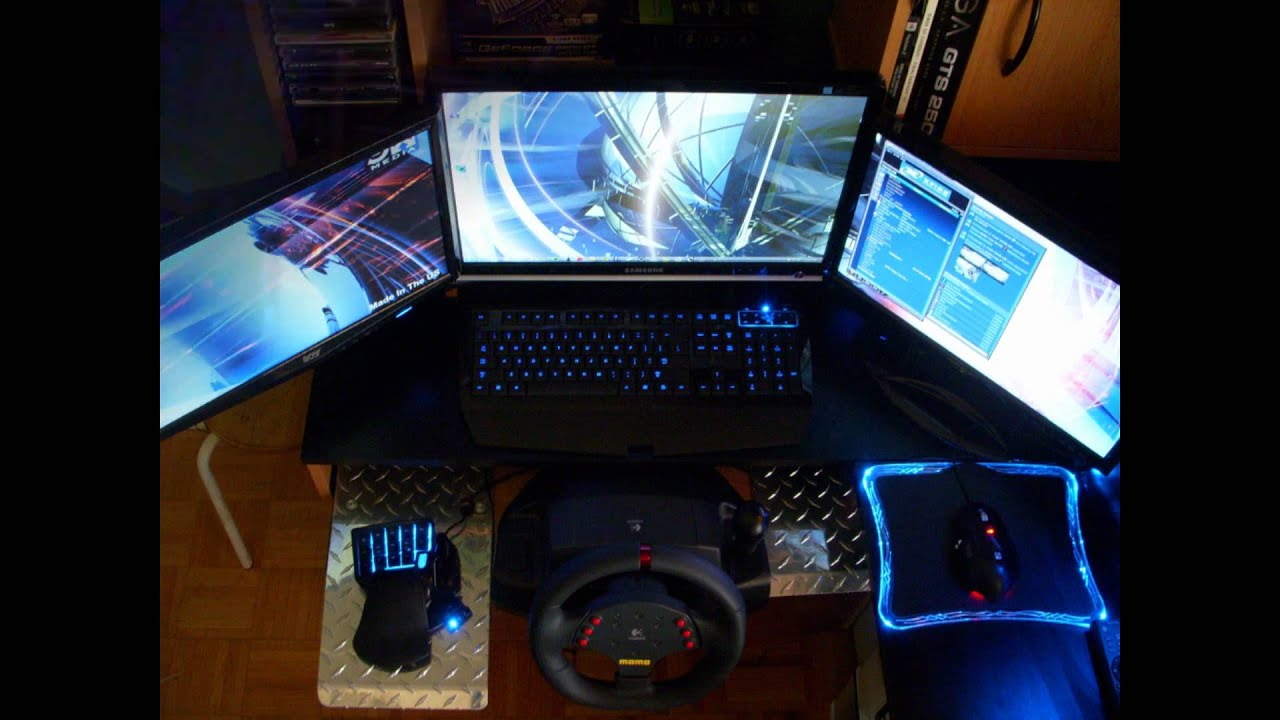 Triple Screen Gaming Pc Setup Youtube