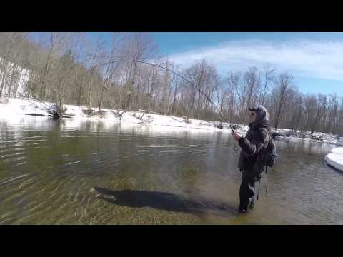 AuSable Steelhead: Winter Steelhead fishing