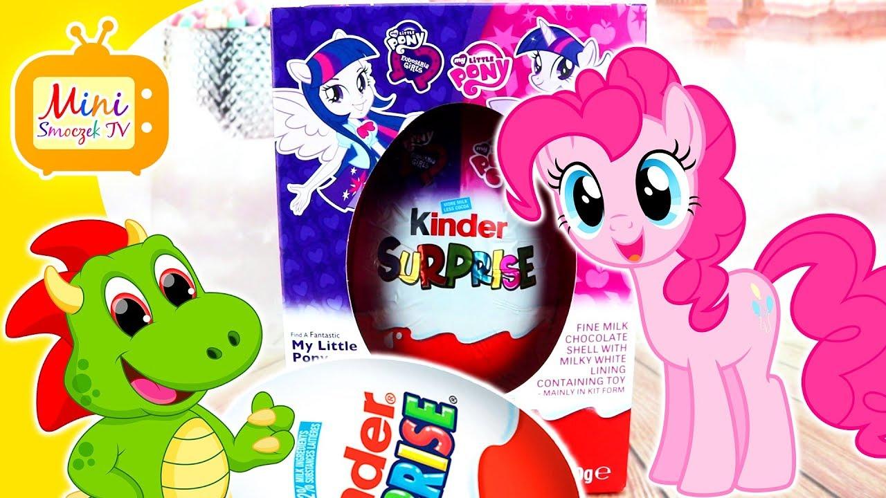 My Little Pony Pinkie Pie i WIELKIE Jajko Kinder Niespodzianka Filmik Dla Dzieci Po Polsku