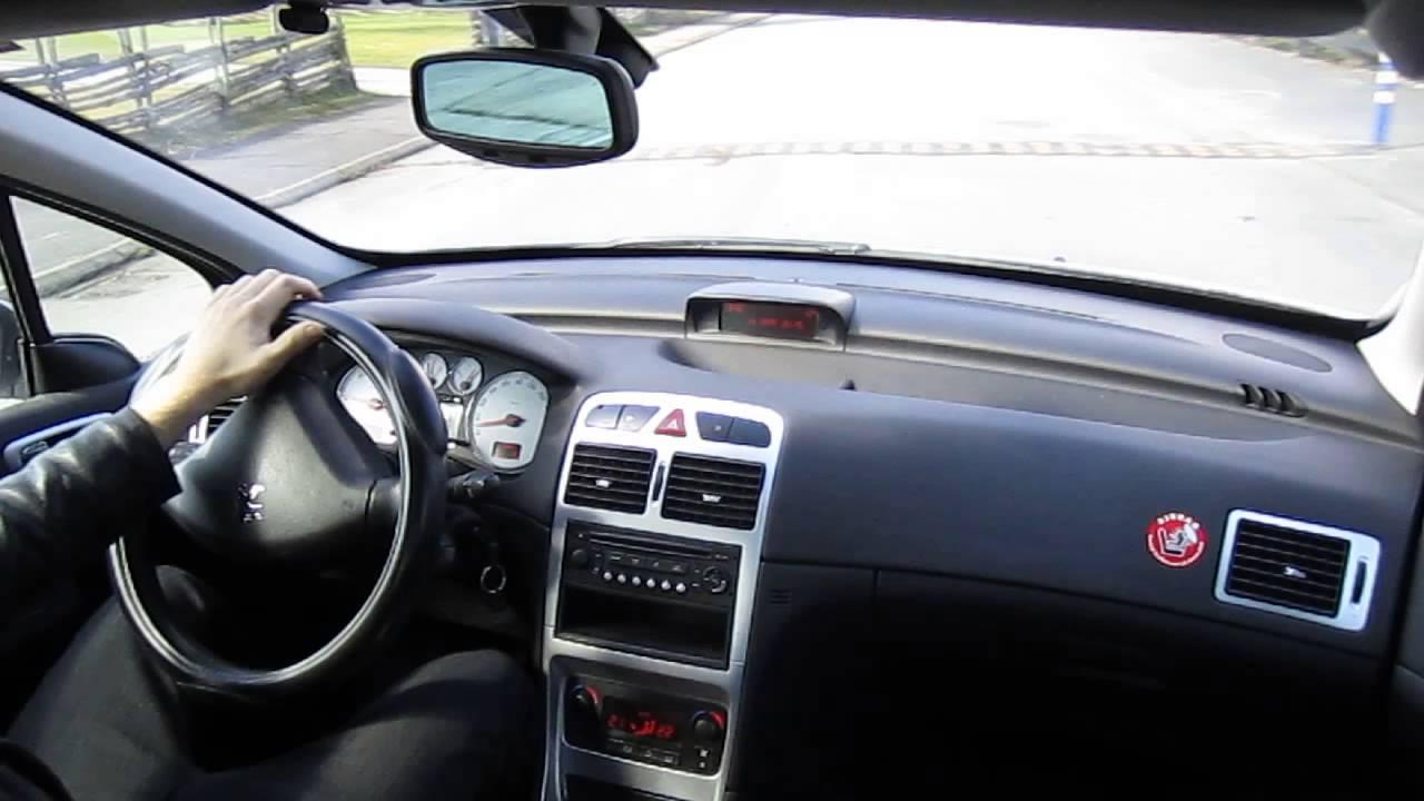 driving a peugeot 307 sw 1 6 hdi break youtube. Black Bedroom Furniture Sets. Home Design Ideas