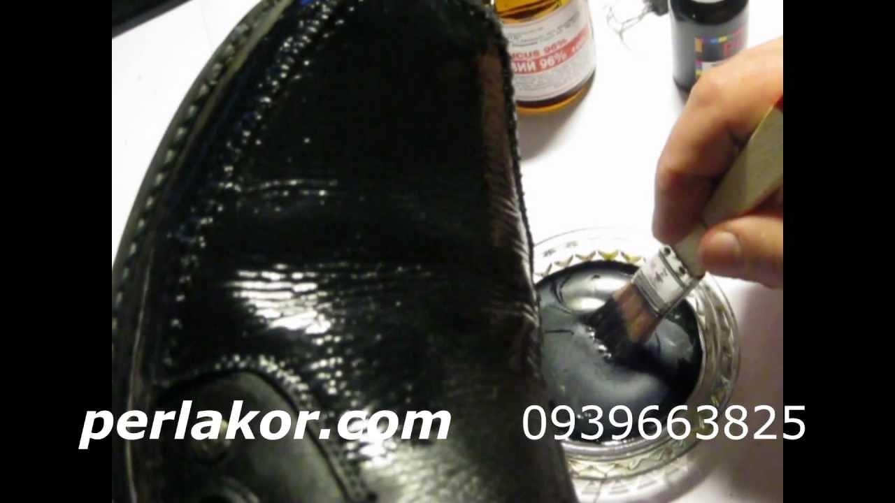Как покрасить кожаные сапоги