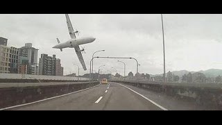 TransAsia Airways plane crash full video HD