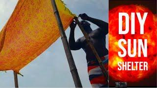 how to build a beach shelter - quick diy 1080p