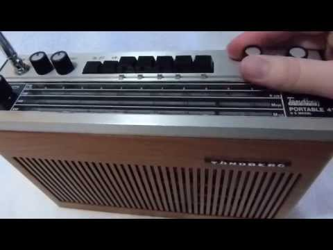 Tandberg TP-41 transistor radio made in Oslo Norway circa 1970