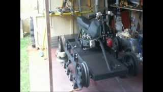 Homemade tracked vehicle tension wheels Part 7
