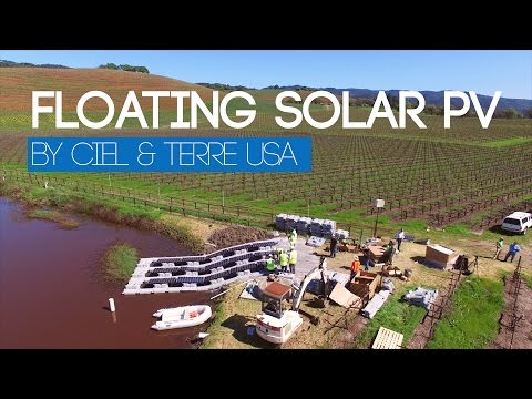 Ciel & Terre USA: First Hydrelio® Floating PV system in California