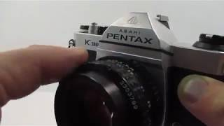 Pentax K 1000 35mm SLR Film Camera With Pentax 50mm Lens