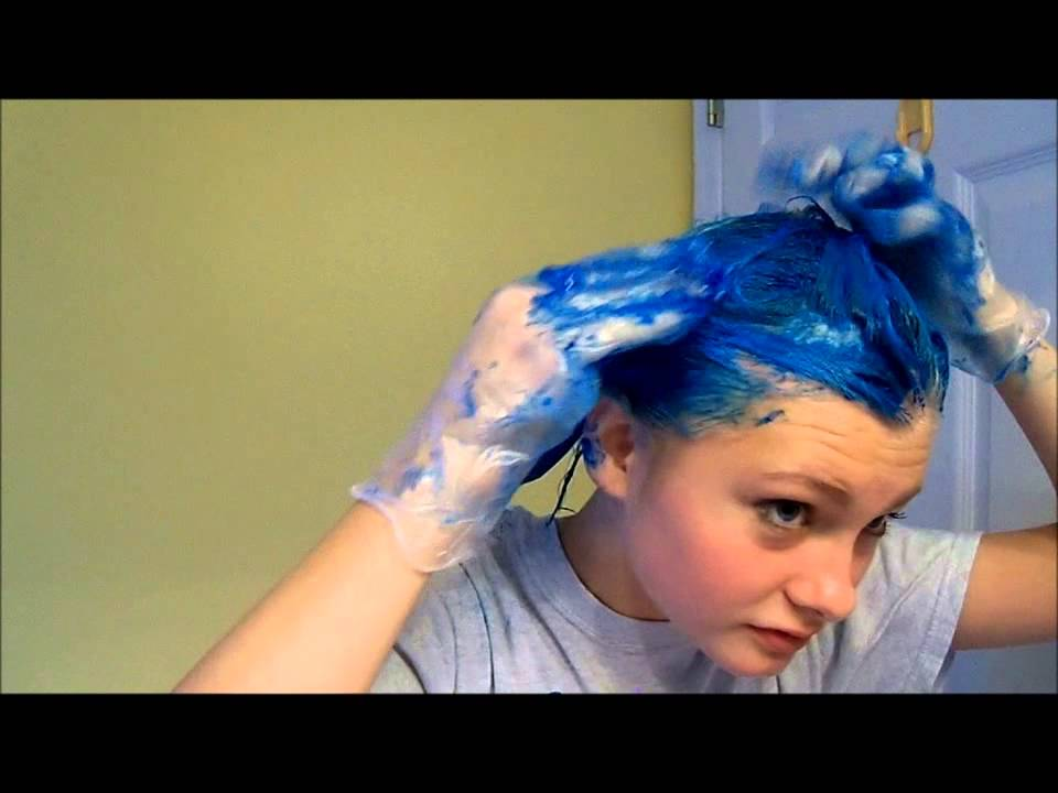 Dying My Hair Blue Heythereimshannon Youtube