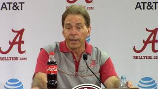 Nick Saban reacts to LeBron James