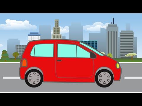 Красная Машинка. Раскраски. Развивающие Мультики для Малышей про Машинки