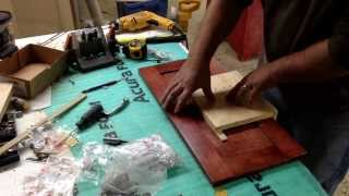 Jig for Drilling Cabinet Drawer Fronts for hardware