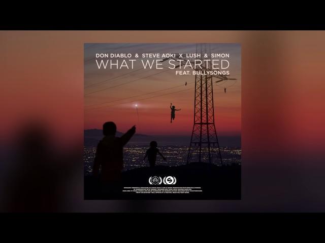 Don Diablo & Steve Aoki x Lush & Simon - What We Started feat. BullySongs (Cover Art)