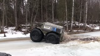 Герасим и вездеход Шерп! Gerasim and Extreme ATV SHERP!