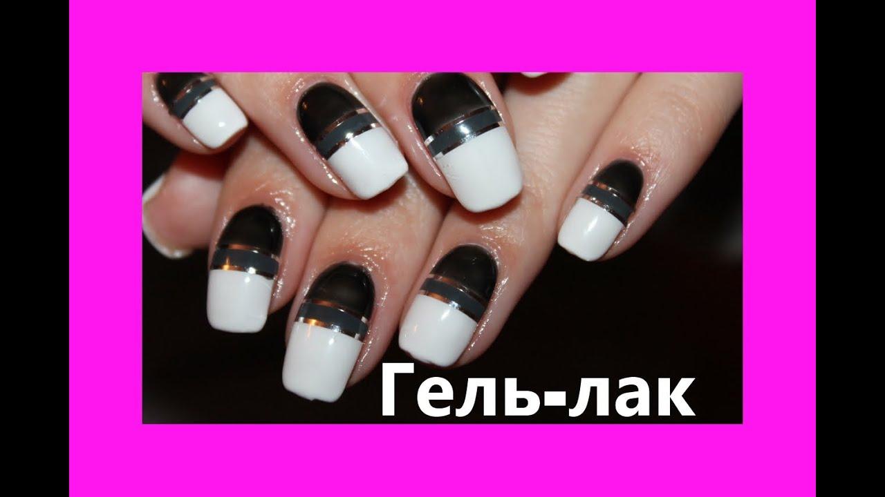 Дизайн ногтей с наклеивающими полосками