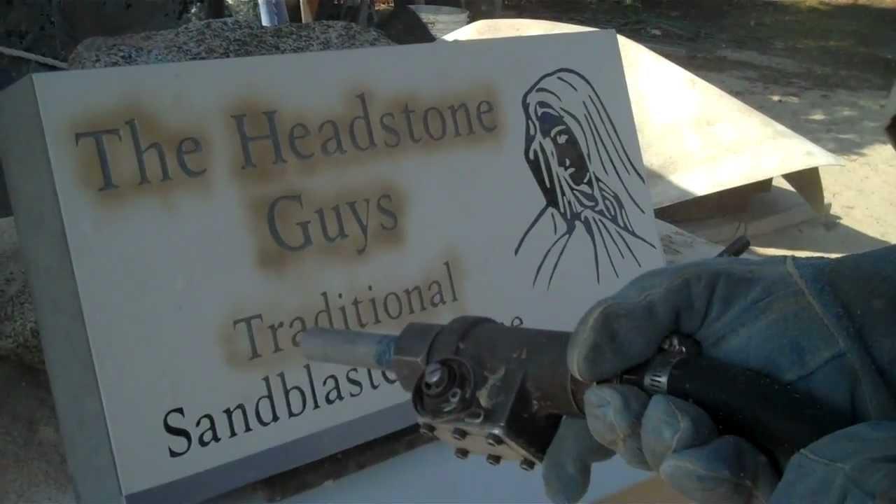 Traditional Sandblasting Perfect Headstones Youtube