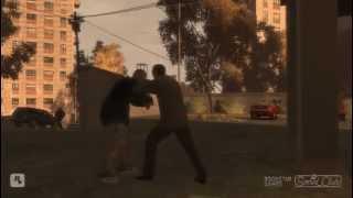 Niko Bellic peleando+ combos en Grand theft auto IV