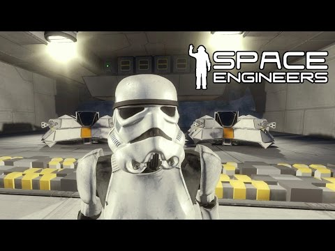 Space Engineers  - Star Wars Stormtroopers and Weapons!