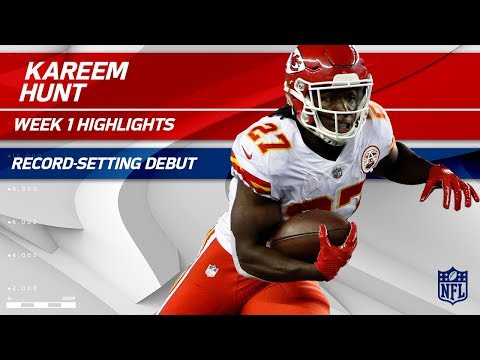 Kareem Hunt's Record-Setting Breakout Debut! | Chiefs vs. Patriots | NFL Wk 1 Player Highlights