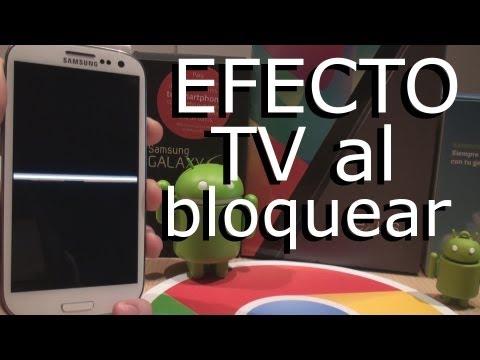 Efecto de TV al bloquear telefono Android // Pro Android