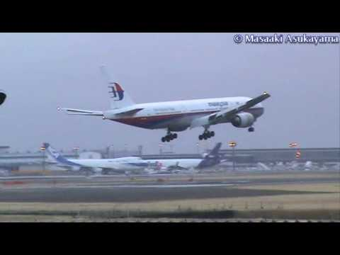 Crosswind Landing - by Malaysia Airlines Boeing 777-200ER 【9M-MRJ】