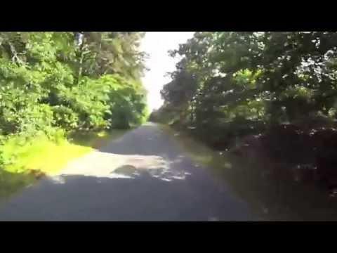 Cape Cod Rail Trail July 2014 Virtual Cycling bike trainer