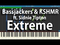 Bassjackers & KSHMR ft. Sidnie Tipton - Extreme | Piano Cover Synthesia