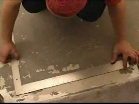 How to set out floor tiles