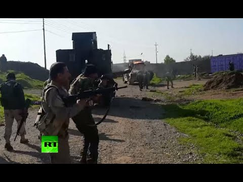 RAW Battle: Kurdish Peshmerga fighting against ISIS in Iraq's Sinjar