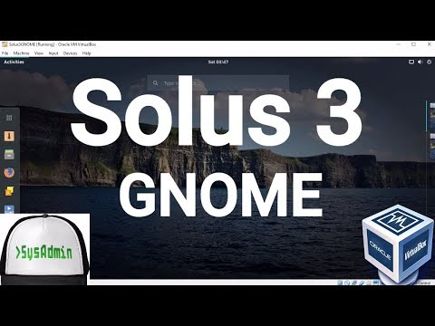Solus 3 GNOME Desktop Installation + Guest Additions on Oracle VirtualBox [2017]