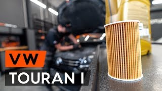 How to replaceoil filter and engine oilonVW TOURAN 1 (1T3) [TUTORIAL AUTODOC]