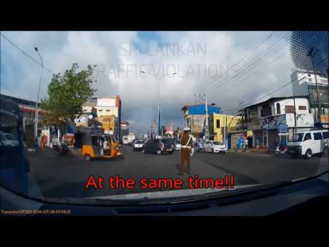 Accident In front of Traffic Police Officer Sri Lanka