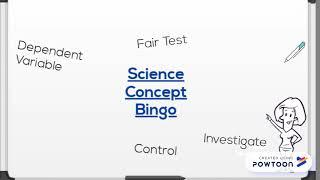 Science Concept Bingo