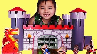 Jannie Pretend Play with Wooden Castle Playset
