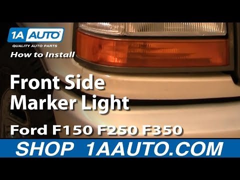 How To Install Replace Front Side Marker Light Ford F150 F250 F350 92