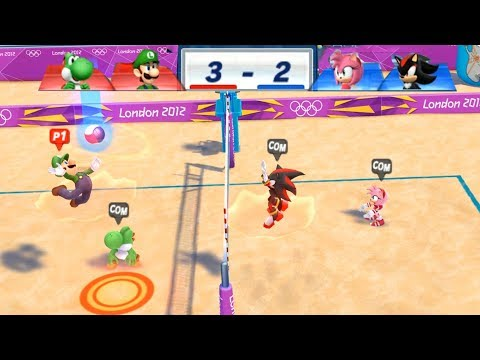 Mario & Sonic At The London 2012 Olympic Games Beach Volleyball #96 With Luigi & Yoshi