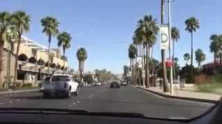 driving through Palm Springs California