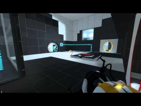 2 noobs jogando Portal 2