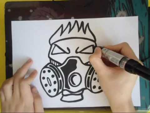 Gas Masks Drawing Drawing a Gas Masked Character