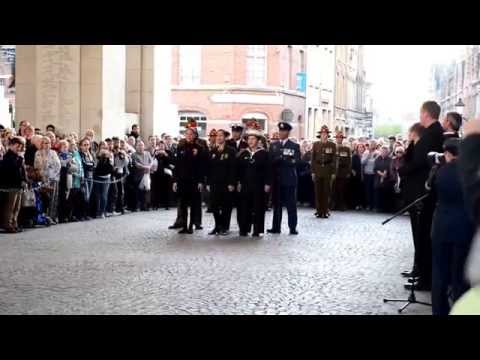 Menin Gate Ypres - ANZAC - Maori song - April 2014 (Last post).
