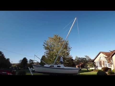 Sailboat Mast Raising System