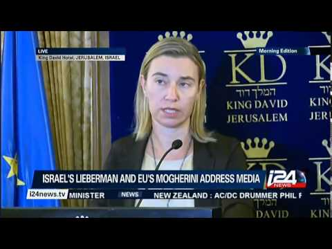 Avigdor Lieberman Federica Mogherini 7 11 14