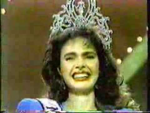 Miss Universe 1986- Crowning - YouTube