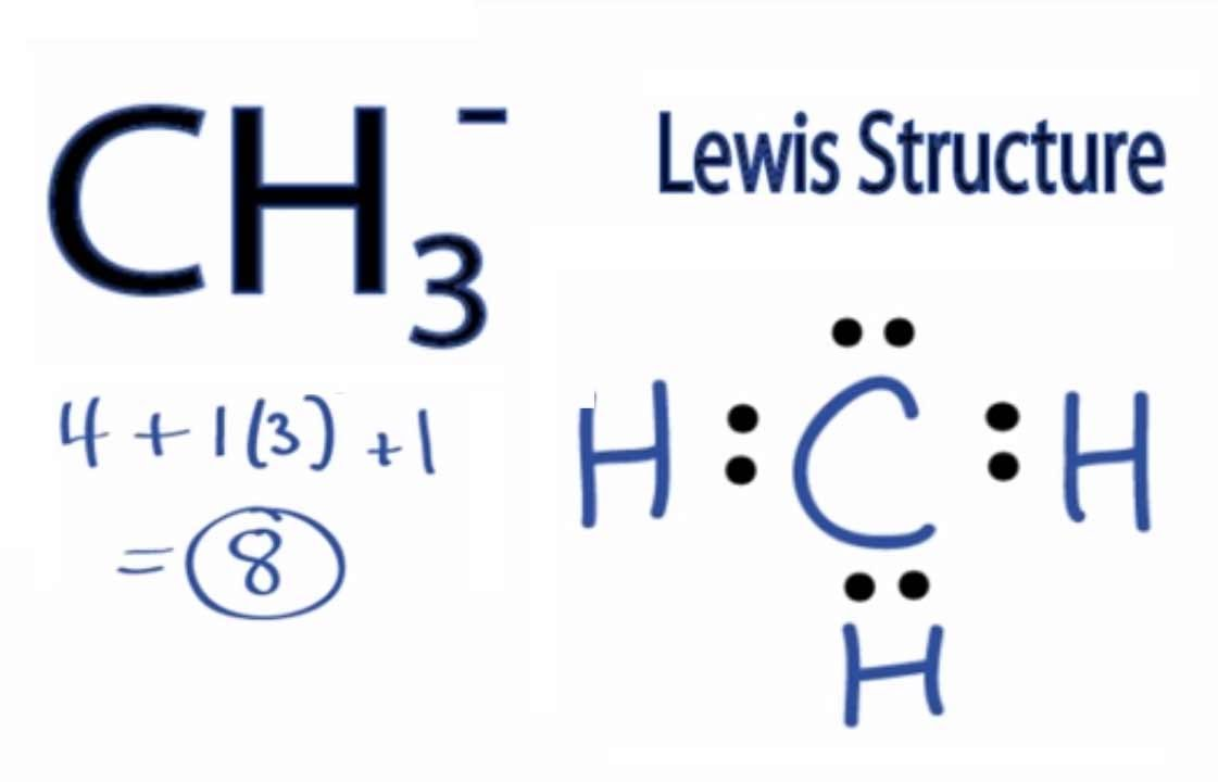 N(ch3)3 Lewis Structure CH3- Lewis Structure How to