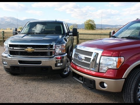 Ford F-150 Ecoboost vs Chevy Silverado Duramax Pick-up Mashup Review
