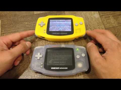 GBA AGS screen MOD side by side difference Game Boy Advance AGS 101 vs AGB 001 backlit