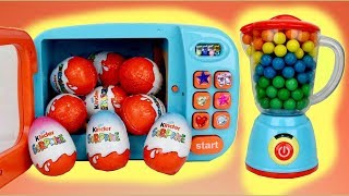 KINDER Chocolate Surprise Egg Magical Microwave & Blender Toys